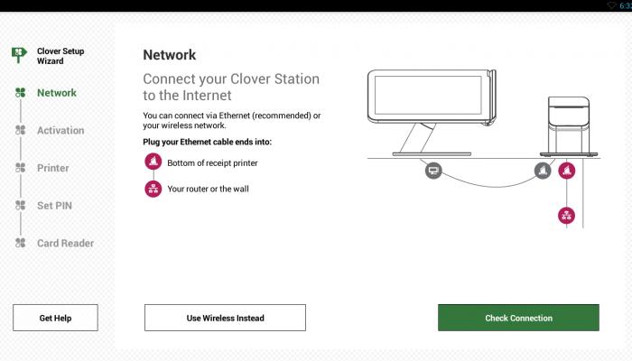 how to setup clover station
